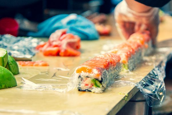 Sushi in the making