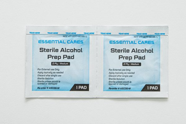 Essential Cares Sterile Alcohol Prep Pads